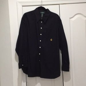 RL 💯 cotton black insignia blouse longer worn 1x